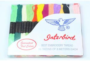 """Нитки мулине """"Interbird"""", 50 цветов"""